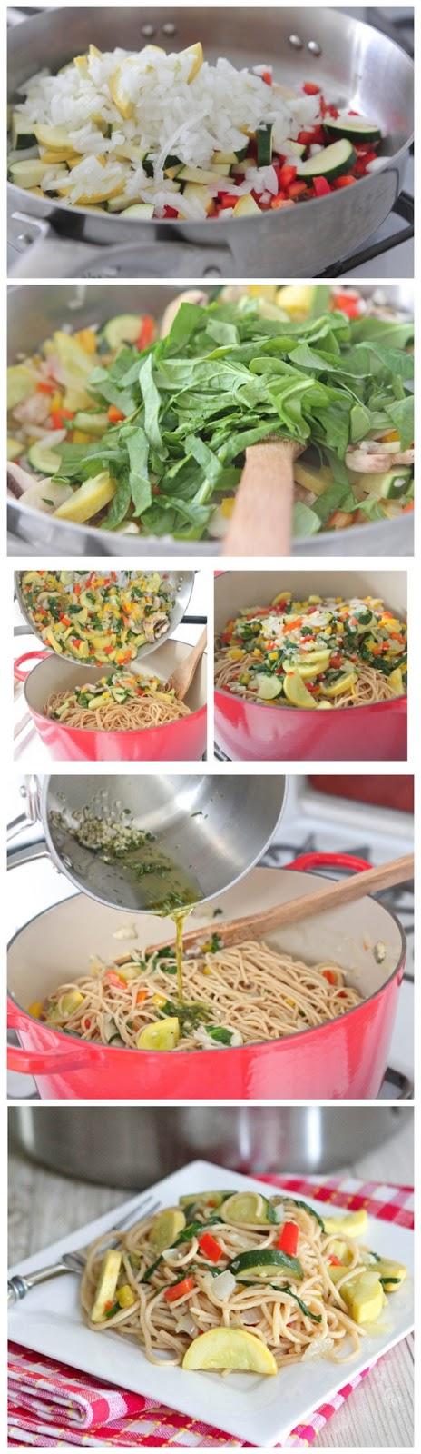 Spaghetti with Warm Garlic Thyme Olive Oil
