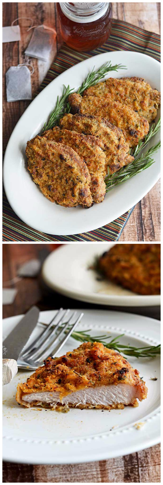 Crispy Baked Sweet Tea Pork Chops