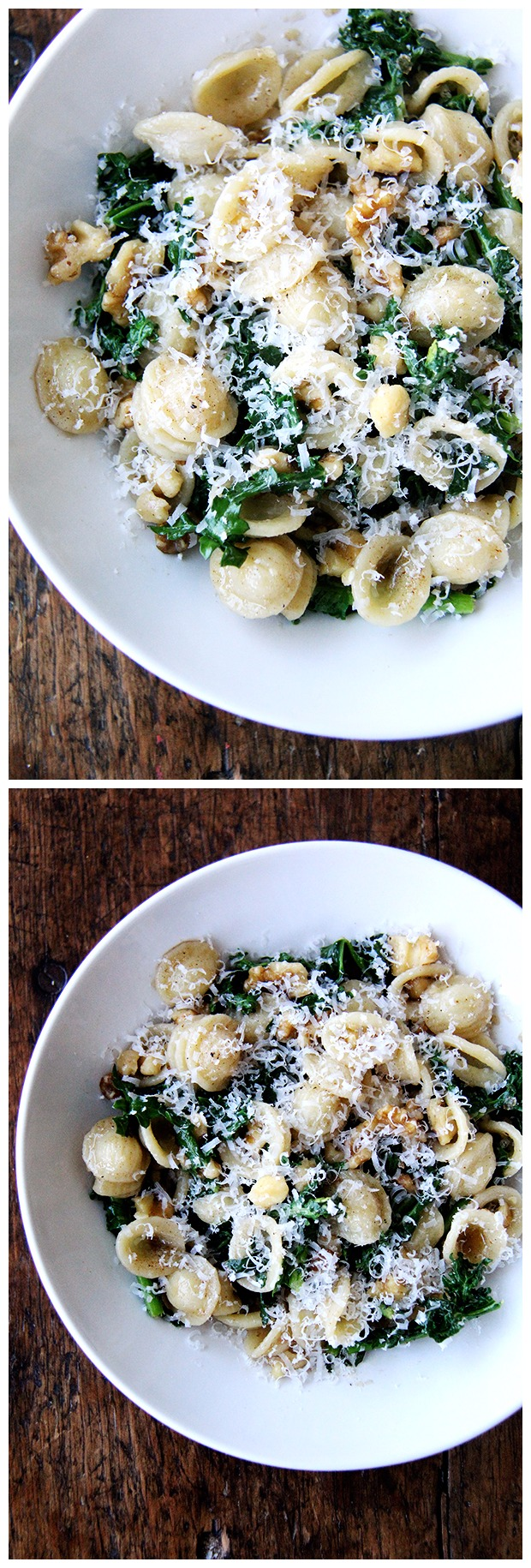 Orecchiette with Spring Greens, Walnuts and Brown Butter