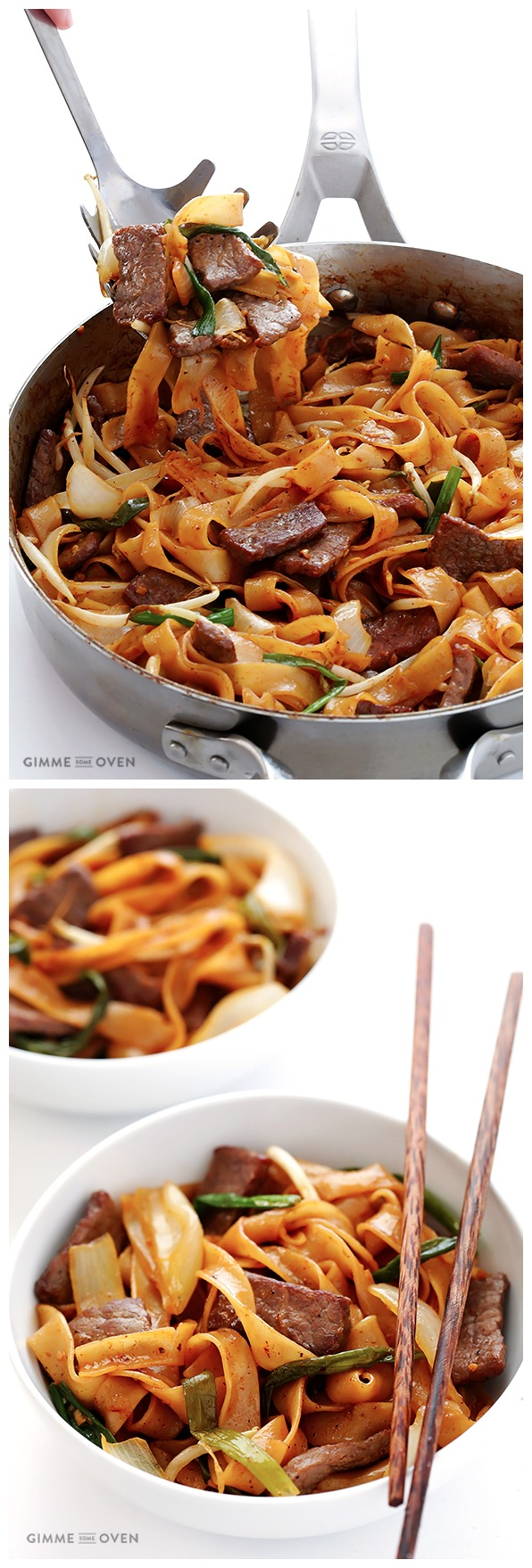 beef chow fun (a beef and noodle stir-fry)