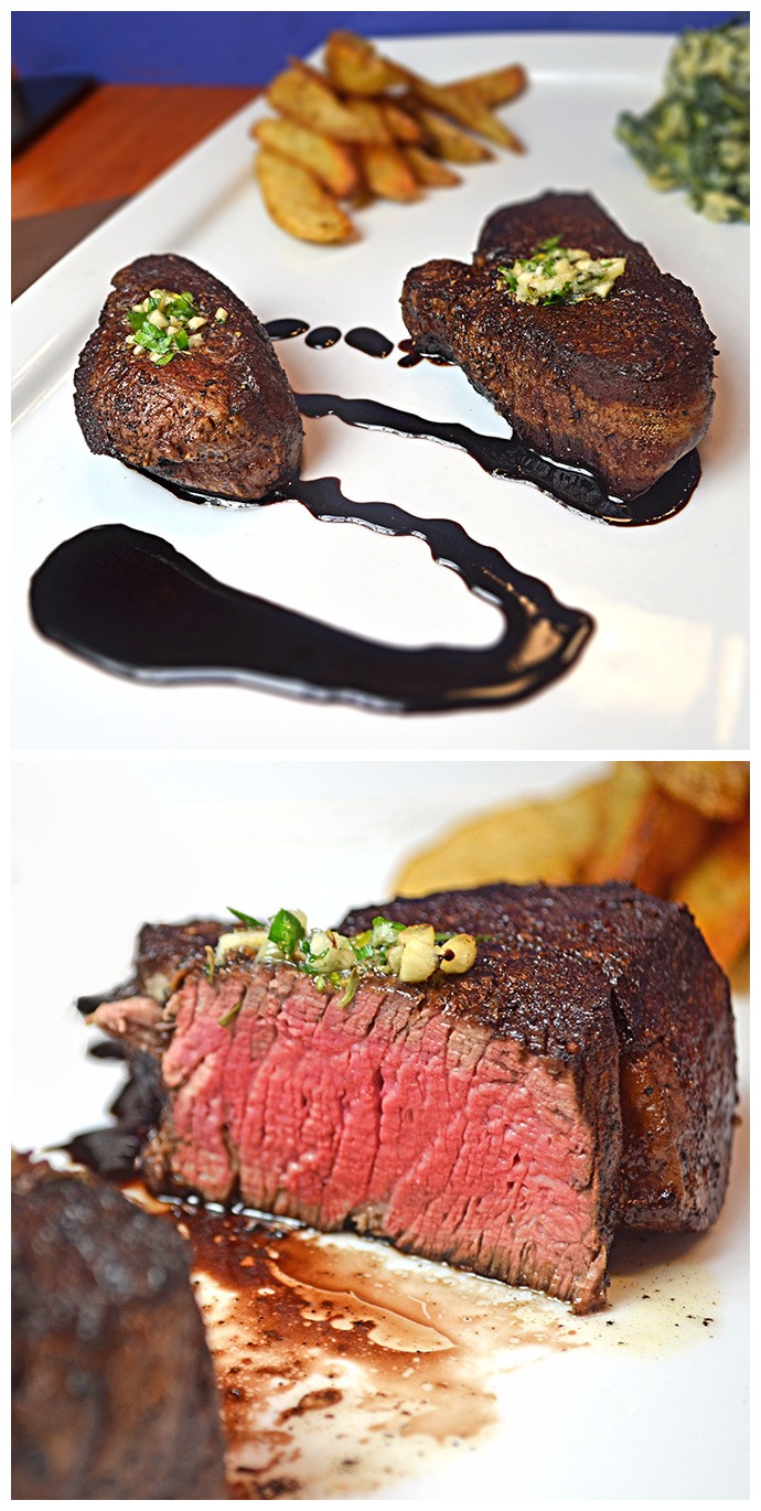 Filet Mignon with Herbed Butter and a Zinfandel Reduction